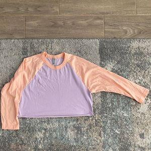 Cute two tone crop top American apparel